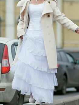 Платья - Свадебное Платье с корсетом,кружевом,бисером, 0