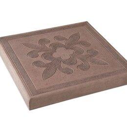 Тротуарная плитка, бордюр - Тротуарная плитка 300*300*30 краковский квадрат коричневая, 0