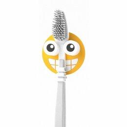 Зубные щетки - Держатель для зубной щётки Emoji желтый, 0