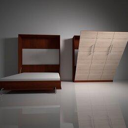 Кровати - Шкаф-кровать с подъемным механизмом трансформер вертикального подъема вп.2, 0