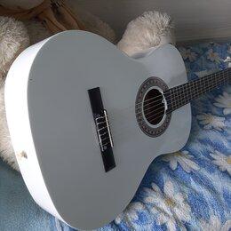 Акустические и классические гитары - Белоснежная гитара для обучения, 0