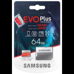 Карты памяти - Карта памяти Samsung EVO Plus MB-MC64HA / RU 64 Гб UHS-I Class 1, 0