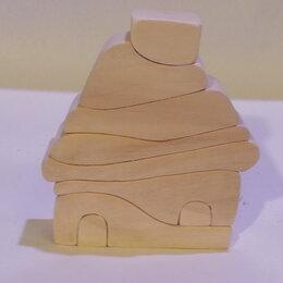 """Развивающие игрушки - деревянный конструктор """"Домик"""", 0"""
