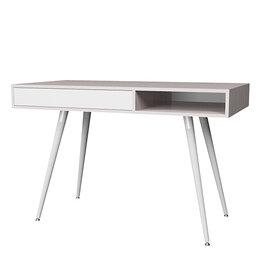 Компьютерные и письменные столы - Смарт 1 стол (ясень анкор/ белый), 0