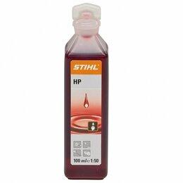 Масла, технические жидкости и химия - Масло 2Т Stihl HP (100 мл) минеральное, 0