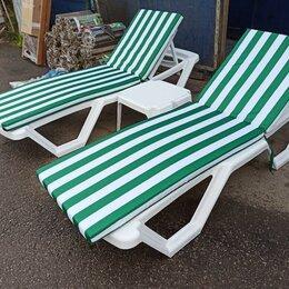 Лежаки и шезлонги - Комплект шезлонгов пляжных со столиком (белые), 0