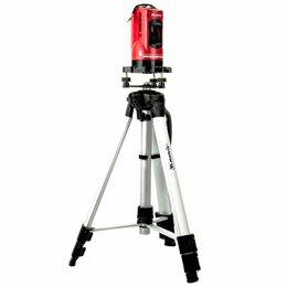 Измерительные инструменты и приборы - Уровень лазерный «MATRIX»  МАСТЕР самовыравнивающийся(в наборе в пластиковом кей, 0