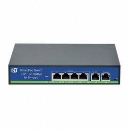 Проводные роутеры и коммутаторы - Switch POE 4-х портовый 6 Ethernet портов (4…, 0
