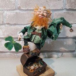 Сувениры - Кукла в подарок на любой праздник. Лепрекон кукла ручной работы в подарок., 0