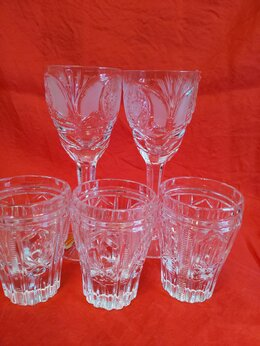 Бокалы и стаканы - Хрустальные рюмки, стаканы и т.п., 0