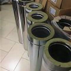 Дымоходы - Труба утепленная  d 150/210 мм L=1,0 м 0,8 мм нерж/нерж, 0