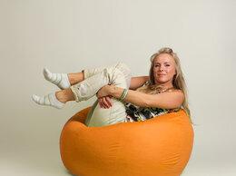 Кресла-мешки - Бескаркасное кресло-мешок Шар Оранжевое, 0