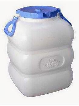 Бочки, кадки, жбаны - Бидон пластиковый 50 литров с крышкой пищевой…, 0