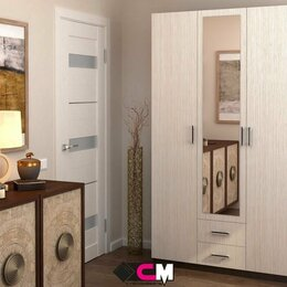 Шкафы, стенки, гарнитуры - Шкаф трёхдверный распашной с зеркалом Трио, 0