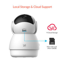 Видеокамеры - Камера видеонаблюдения YI Dome Guard 1080p, 0