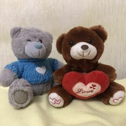Мягкие игрушки - Поющий плюшевый Мишка Тедди и медведь-брелок, 0