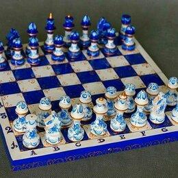Настольные игры - Шахматы Гжель. Северное сияние, 0