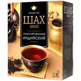 Продукты - Чай Шах Gold, черный, индийский, 100 пакетиков…, 0