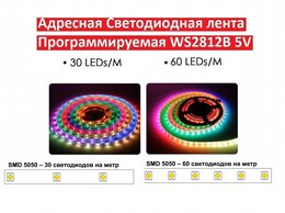 Светодиодные ленты - Адресная светодиодная лента, 0