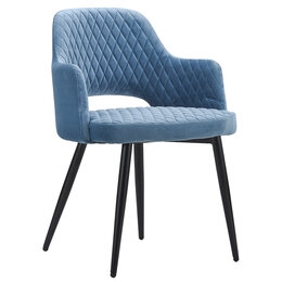 Кресла - Кресло с мягкими подлокотниками голубое Burgos, 0