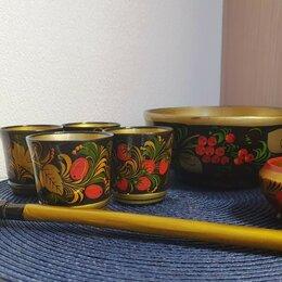 Сервизы и наборы - Набор посуды с хохломской росписью. Вариант 2, 0