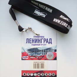 Билеты - Группа Ленинград бейдж видеосъемка Нижний Новгород 20.06.19, 0