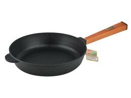 Сковороды и сотейники - Сковорода 260*60 чугунная сотейник с деревянной…, 0