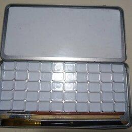 Рисование - 50 пустых мини-кювет в металлической коробочке с кистями, 0