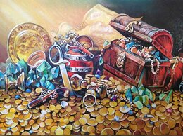"""Картины, постеры, гобелены, панно - Картина маслом на холсте """"Золотой натюрморт"""", 0"""