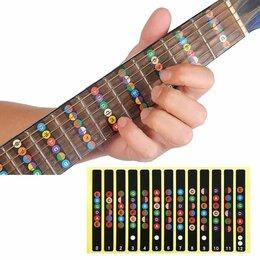 Аксессуары и комплектующие для гитар - Ноты для гитары (наклейки), 0