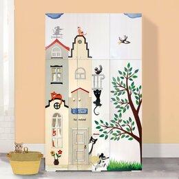 Шкафы, стенки, гарнитуры - Шкаф дизайнерский в детскую с объемной отделкой, 0