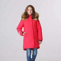 Куртки и пуховики - Крутые парки для девочек с меховым капюшоном на молнии (р-ры 122 - 158), 0