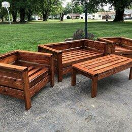 Комплекты садовой мебели - Мебель для улицы, диван, кресло, столик, 0