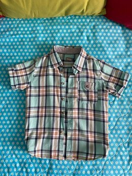 Рубашки - Рубашка хлопковая с коротким рукавом, 0