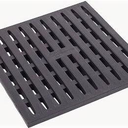 Комплектующие водоснабжения - Решетка к дождеприемнику АП (черная) 0,288х0,288х0,027, 0