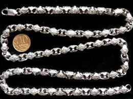 Цепи - Родированная серебряная цепь,плетение Краб.Вес…, 0