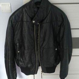 Куртки - Куртка кожаная утеплённая оригинал размер 48-50, 0