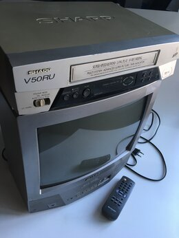 Телевизоры - Sharp телевизор и видеомагнитофон, 0