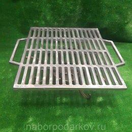 Решетки - Решетка-гриль чугунная 500*510*13 мм , 0