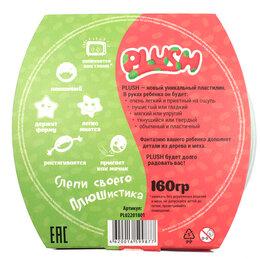 Лепка - PLUSH Пушистый пластилин Розовый+Зеленый, 0