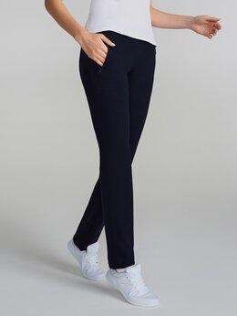 Брюки - Женские спортивные брюки темно-синие хлопковые…, 0