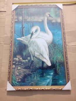 Картины, постеры, гобелены, панно - Картина Лебеди размер 67см на 107 см. НОВАЯ. В…, 0