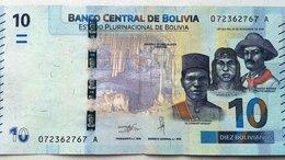 Банкноты - Боливия 10 Боливиано L.1986(2018) г., 0