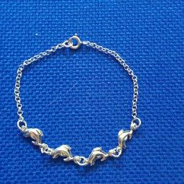 Браслеты - Серебряный браслет «Дельфины», 0