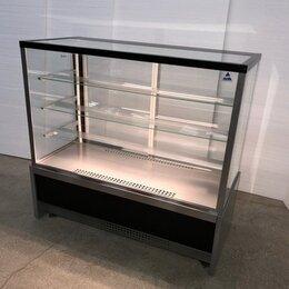 Холодильные витрины - Кондитерская витрина Ангара Кондитер КУБ-1,3 Люкс, 0
