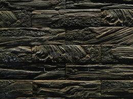 Облицовочный камень - Кирпич древесный , вертик, 0
