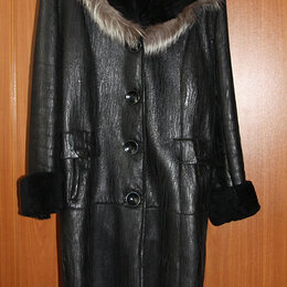 Дубленки - Зимняя кожаная куртка размер 50-52, 0