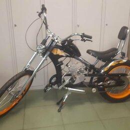 Мототехника и электровелосипеды - Велосипед с мотором OKK-32003M Chopper со склада, 0