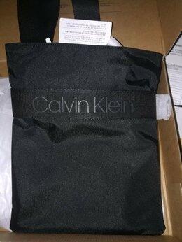 Сумки - Плоская сумка-кроссовер CK, 0