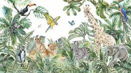 Обои - Фотообои в детскую с джунглями и зверушками, 0